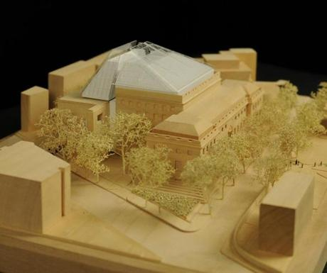 Harvard Art Museums, expansion and renovation project. Pictured: Model, from Broadway and Quincy Street Courtesy of Renzo Piano Building Workshop. © President and Fellows of Harvard College 23Harvard